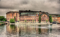 Sweden Parliament building in Stockholm Royalty Free Stock Photo