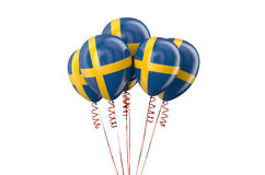 Sweden patriotic balloons,  holyday concept Stock Images