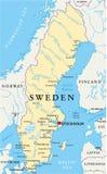 Sweden Political Map Stock Images