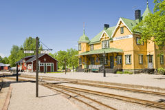 Sweden Railway Station Royalty Free Stock Photos