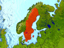 Sweden in red Stock Images