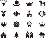 Sweden related glyph web icons Royalty Free Stock Image