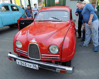 Sweden retro car of 1950s Saab 93 at the front Stock Image