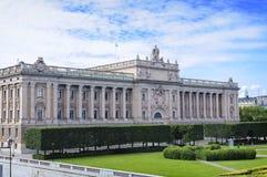Sweden Riksdag building. Stockholm. Stock Photo