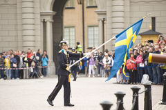 Sweden Royal guard Stock Photos