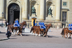 Sweden Royal guard. Stock Photos