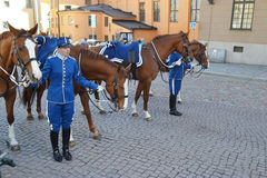 Sweden Royal guard. Royalty Free Stock Photography