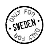 Only For Sweden rubber stamp Royalty Free Stock Images