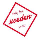 Only For Sweden rubber stamp Stock Photography