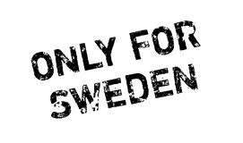 Only For Sweden rubber stamp Royalty Free Stock Photo
