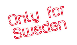 Only For Sweden rubber stamp Stock Photos