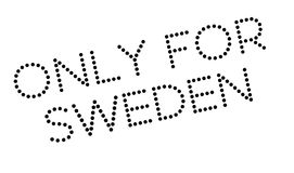 Only For Sweden rubber stamp Royalty Free Stock Photos