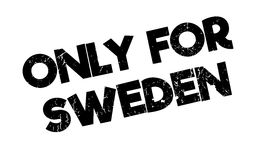 Only For Sweden rubber stamp Stock Images