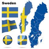 Sweden set. royalty free illustration