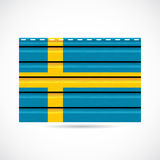 Sweden siding produce company icon. Sweden siding produce business company icon illustration Stock Image