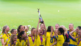 Sweden soccer national team European champions Stock Photos