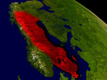 Sweden from space Stock Images