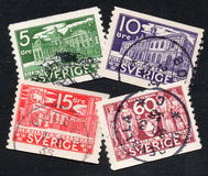 Sweden stamps Stock Images