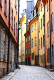 Sweden. Stockholm. Old street in Stockholm, the capital of Sweden Royalty Free Stock Photography