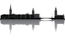 Sweden stockholm city skyline Royalty Free Stock Photos