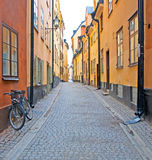 Sweden. Stockholm. Gamla Stan. Sweden. Stockholm. One of the streets of the Old Town (Gamla Stan Stock Photo