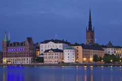 Sweden: Stockholm by night Stock Image