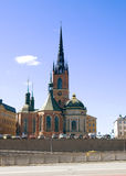 Sweden. Stockholm. Riddarholmen church. Sweden. Stockholm. Church on the island Riddarholmen. Riddarholmskyrkan  or Riddarholmen church. This church is  the Royalty Free Stock Photography