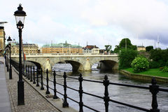 Sweden. Stockholm. View of the city of Stockholm from the embankment Stock Photography