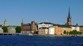 Sweden, Stockholm, view of the city and its palaces stock image