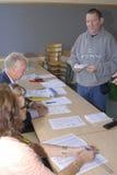 SWEDEN_SWEDEN VOTE ( SVERIGE ROSTER). SWEDEN / MALMOE . SVIGER ROSTER/ Sweden go to polls and cast their votes for Riksdag swedish General parliament elections Stock Images