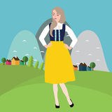 Sweden Swedish woman wear traditional costume dress clothing ethic cultural fashion  Stock Images