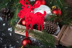 Sweden symbol Christmas Elk Moose. Stock Image