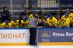 Sweden team bench Stock Images