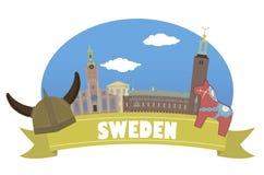 sweden Turismo e curso Imagem de Stock