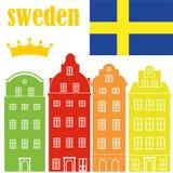 Sweden. Vector illustration (EPS 10 Stock Photography