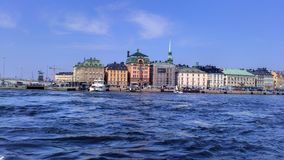 Sweden. View from the boat to the city of Stockholm Stock Photo