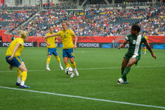 Sweden vs Nigeria national teams. FIFA Women's World Cup Royalty Free Stock Photo