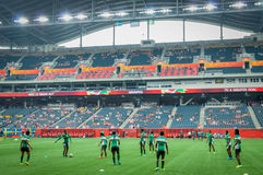 Sweden vs Nigeria national teams. FIFA Women's World Cup Stock Images