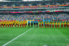 Sweden vs Nigeria national teams. FIFA Women's World Cup Royalty Free Stock Image