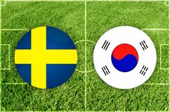Sweden vs South Korea football match Stock Image