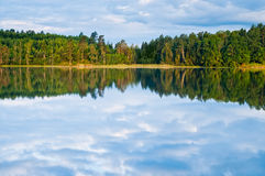 Sweden water reflections Royalty Free Stock Images