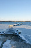 Sweden Westcoast. Winter in sweden on the westcoast. Stigfjorden betwhen Tjorn and Orust Stock Photo