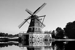 Sweden, windmill Fleninge Molla. Europe, Scandynavia Royalty Free Stock Photo