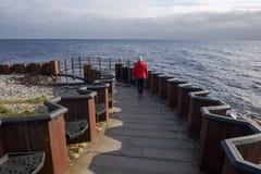 Swedens最南端的海角,Smygehuk 免版税图库摄影