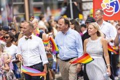 Swedens Pierwszorzędny minister Stefan Löfvén przy Europride Sztokholm Zdjęcie Stock