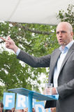Swedens Prime Minister Fredrik Reinfeldt summer speech Stock Photos