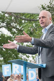 Swedens Prime Minister Fredrik Reinfeldt summer speech Stock Photo