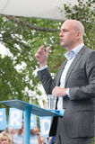 Swedens Prime Minister Fredrik Reinfeldt summer speech Royalty Free Stock Image