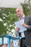 Swedens Prime Minister Fredrik Reinfeldt summer speech Royalty Free Stock Photos