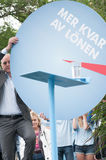 Swedens Prime Minister Fredrik Reinfeldt summer speech Royalty Free Stock Images